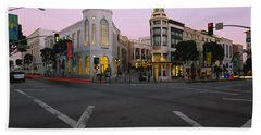 Buildings In A City, Rodeo Drive Beach Towel by Panoramic Images