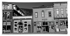 Buildings In A Town, Old Mining Town Beach Towel