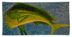 Bull Dolphin Mahimahi Fish Beach Sheet