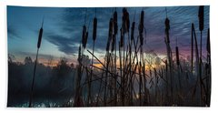Bulrush Sunrise Beach Towel