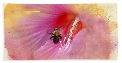 Beach Towel featuring the photograph Bumble Bee Bliss by Betty LaRue