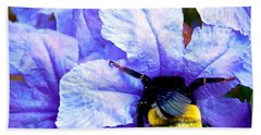 Beach Towel featuring the photograph Bumblebee Brunch by Dee Dee  Whittle