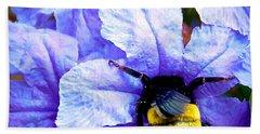 Beach Sheet featuring the photograph Bumblebee Brunch by Dee Dee  Whittle