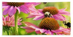 Bumbling Bees Beach Sheet by Bill Pevlor