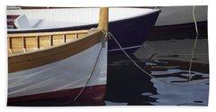 Burgundy Boat Beach Towel
