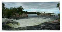 Beach Towel featuring the photograph Burleigh Falls by Barbara McMahon