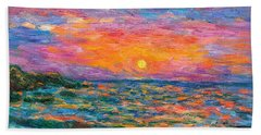 Burning Shore Beach Towel