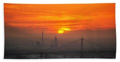 Beach Towel featuring the photograph Burning Sunset II by Ray Warren