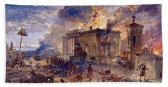 Burning Temple Of The Winds, 1856 Beach Towel