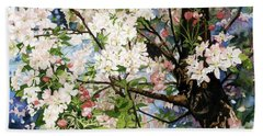 Burst Of Spring Beach Sheet by Barbara Jewell