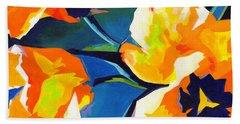 Bursting Colors  Beach Towel