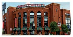 Busch Stadium Home Of The St Louis Cardinals Beach Sheet by Greg Kluempers