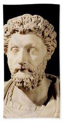 Bust Of Marcus Aurelius Beach Towel
