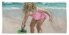 Busy Beach Girl Beach Towel