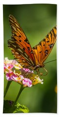 Busy Butterfly Beach Sheet by Jane Luxton