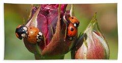 Busy Ladybugs Beach Towel