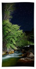 Beach Towel featuring the photograph Busy Night by David Andersen