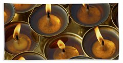 Butter Lamps Beach Towel