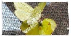 Sulfur Butterflies Mating Beach Sheet by Belinda Lee