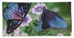 Beach Sheet featuring the painting Butterfly #2 by Dianna Lewis