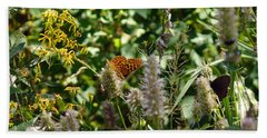 Butterfly Buffet Beach Towel by Meghan at FireBonnet Art