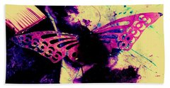 Beach Towel featuring the photograph Butterfly Disintegration  by Jessica Shelton