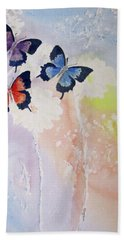 Butterfly Dream Beach Sheet by Elvira Ingram