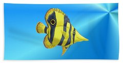 Beach Sheet featuring the digital art Butterfly Fish by Chris Thomas