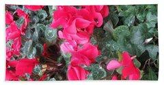 Beach Sheet featuring the photograph Butterfly Garden Red Exotic Flowers Las Vegas by Navin Joshi