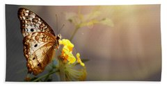 Butterfly Glow Beach Towel by Judy Vincent