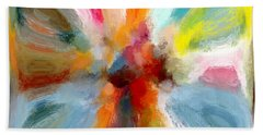 Butterfly In Abstract Beach Towel by Andrea Auletta