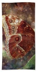 Beach Sheet featuring the photograph Butterfly In My Garden by Barbara Orenya