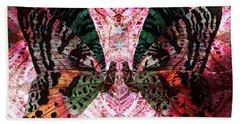 Beach Towel featuring the digital art Butterfly Kaleidoscope by Kyle Hanson
