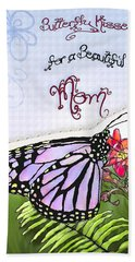 Butterfly Kisses Beach Towel by Susan Kinney