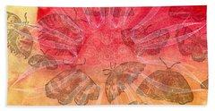 Beach Sheet featuring the digital art Butterfly Letterpress Watercolor by Kyle Hanson