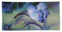 Beach Sheet featuring the painting Butterfly Series #3 by Dianna Lewis