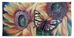 Beach Sheet featuring the painting Butterfly Series 5 by Dianna Lewis