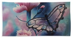 Beach Towel featuring the painting Butterfly Series 6 by Dianna Lewis