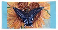 Butterfly Sunday Up-close Beach Towel