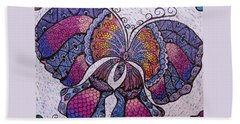 Butterfly Tangle Beach Sheet