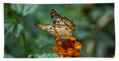 Beach Towel featuring the photograph Butterfly Wings Of Sun Light by Thomas Woolworth