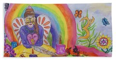 Butterfly Woman Healer I Am Beach Towel by Ellen Levinson