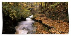 Buttermilk Creek, Ithaca, New York Beach Towel