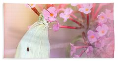 Beach Towel featuring the photograph Butterrfly Joy by Betty LaRue