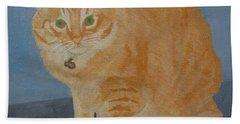 Butterscotch The Cat Beach Sheet by Mini Arora
