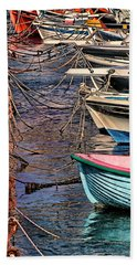 By A Nose Mykonos Greece Beach Sheet by Tom Prendergast