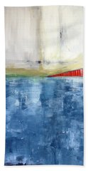 By The Bay- Abstract Art Beach Towel
