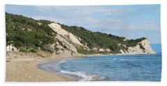 Beach Towel featuring the photograph By The Beach by George Katechis