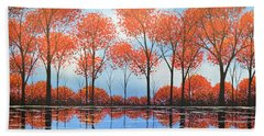 By The Shore Beach Towel by Amy Giacomelli