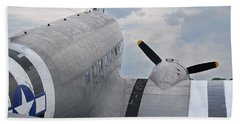 Beach Sheet featuring the photograph C-47 3880 by Guy Whiteley